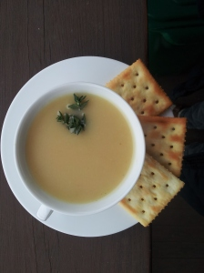 celery root pear soup