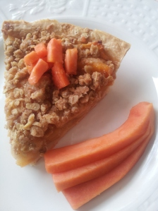 papaya apple pie