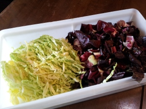 savoy cabbage and radicchio from Remo's garden