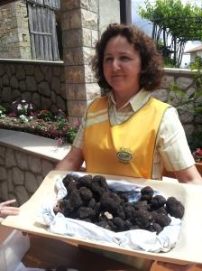 Radmila Karlic with black truffles