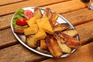 Rastoke potatoes and polenta