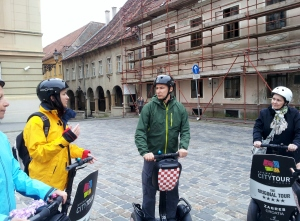 Riding Segways in Zagreb