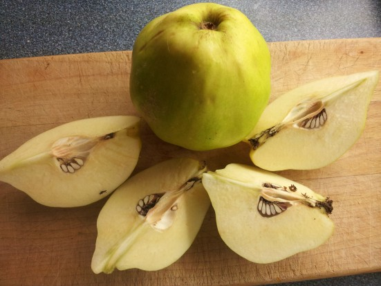 Fresh-cut quince