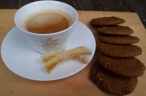 candied zest and molasses cookies
