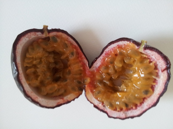 cut passion fruit