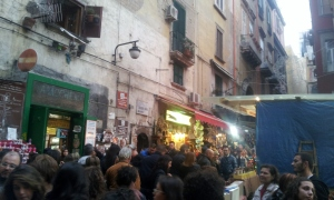 crowds in old city