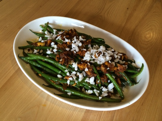 Pukka's green beans with turmeric