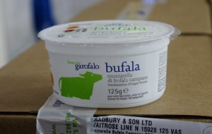 tub of mozzarella di bufala