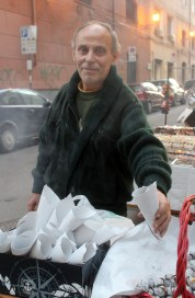 Palermo chestnut vendor