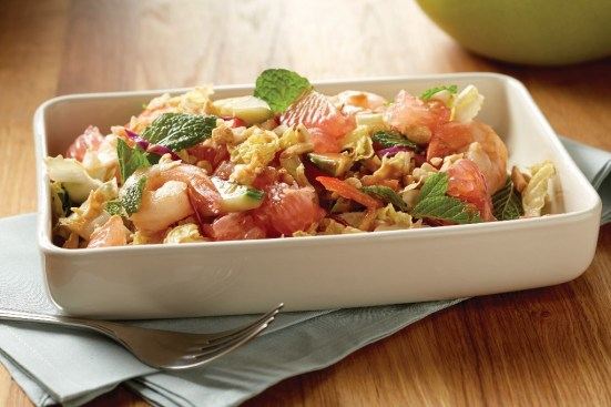 Spicy shrimp pummel salad