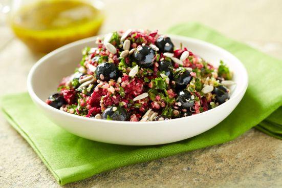 quinoa kale blueberry salad