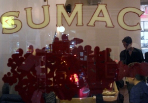 Popular restaurant Sumac serves Lebanese food.