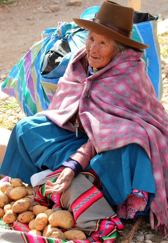 Chinchero market selling some of Peru's 3,000 potato varieties