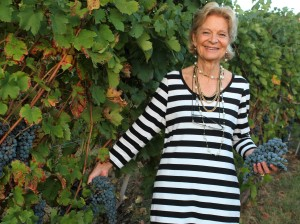 signora in her vineyard