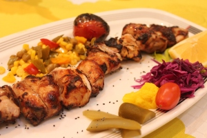 chicken kabob Aramis hotel