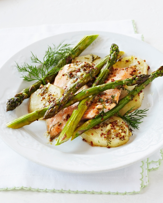 One-Pan-Roasted-Asparagus-Trout-and-Potatoes