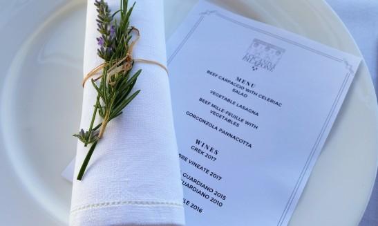 Palazzone menu