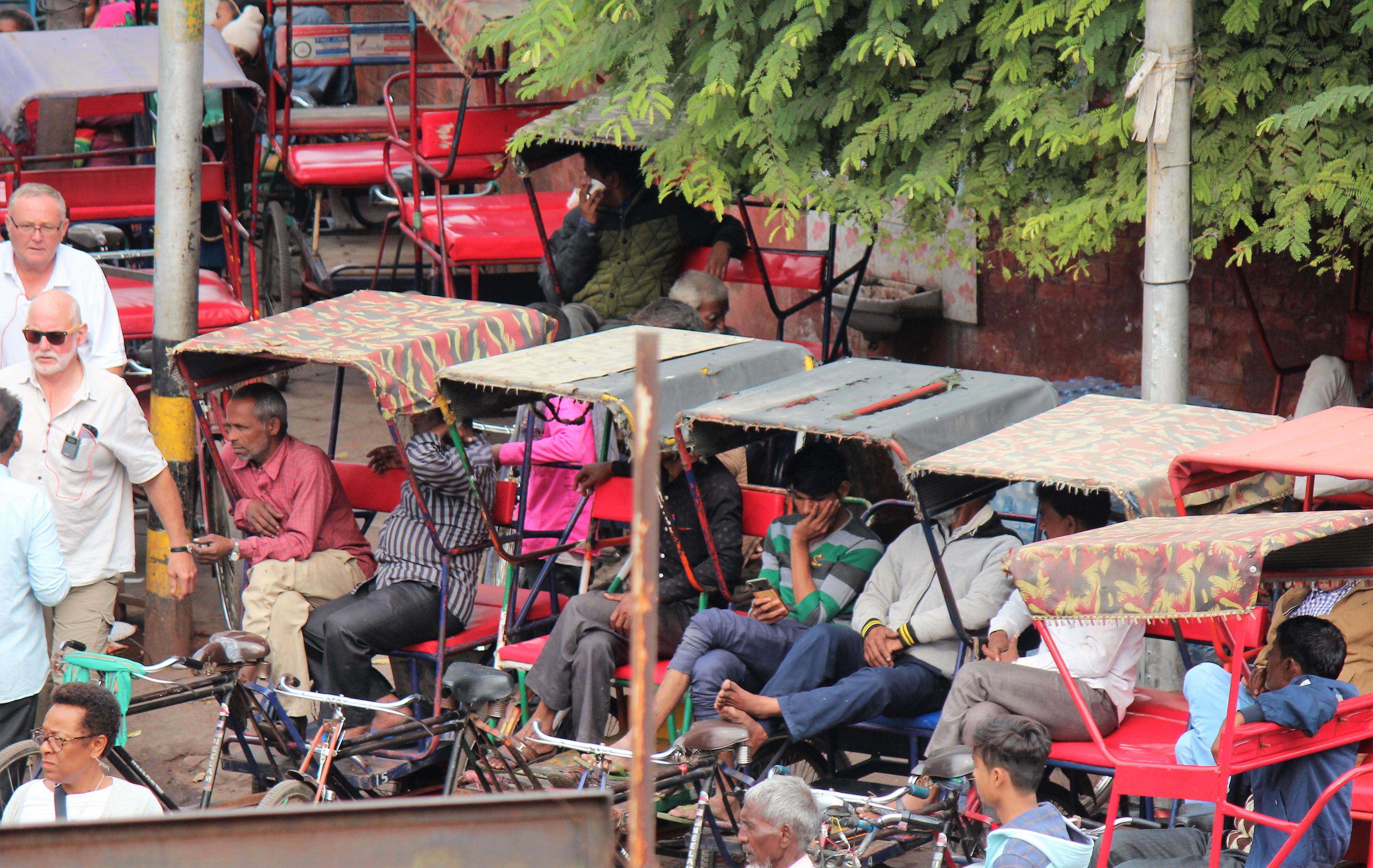 waiting-rickshaws